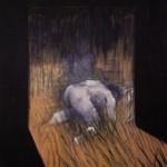 1952 Francis Bacon - Man Kneeling in Grass