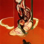 1962 Francis Bacon - Three studies for a crucifixion, right