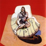 1964 Francis Bacon - Study for portrait of henrietta moraes on a red ground