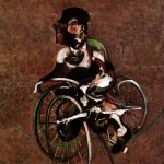 1966 Francis Bacon - Portrait of George Dyer Riding a Bicycle