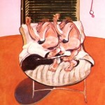 1968 Francis Bacon - Two figures lying on a bed with attendants b