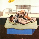 1972 Francis Bacon - Three studies of figures on beds - center