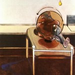 1972 Francis Bacon - Three studies of figures on beds - right