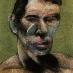 1980 Francis Bacon - 3 Studies for a Portrait of Peter Beard, left